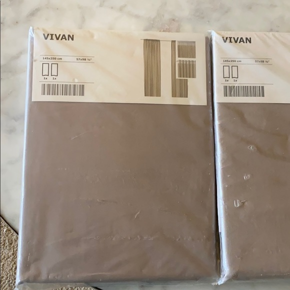 IKEA Vivan curtains. 2 packages which include 2